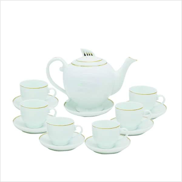 ấm bình trà sứ trắng 1