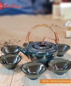 Bộ trà thấp quai mây