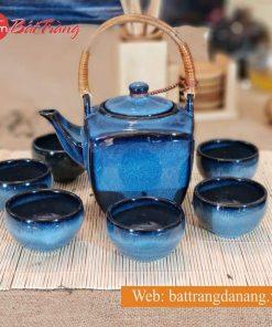 Bộ trà ấm vuông