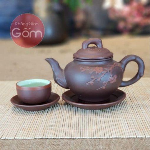 Bộ trà Tử sa Báo xuân ca