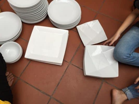 dĩa sứ trắng giá rẻ 2