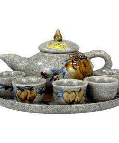 Bộ trà thờ men rạn