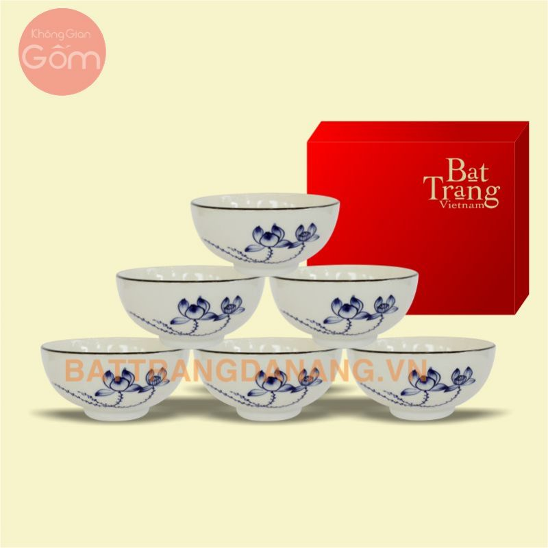 Bộ bàn ăn Bát Tràng cao cấp vẽ