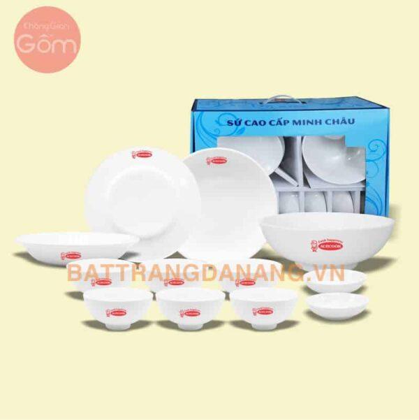 Bộ bát đĩa bàn ăn Minh Châu in Logo