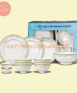 Bộ bàn ăn Minh Châu in Logo
