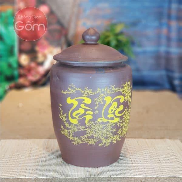 Hũ gạo gốm Bát Tràng