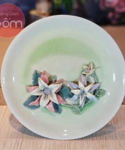 Đĩa sứ hoa