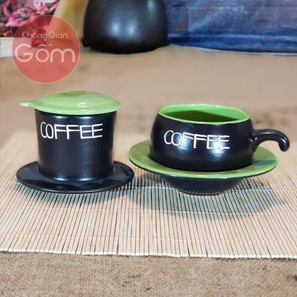 Ly kết hợp với phin pha cà phê