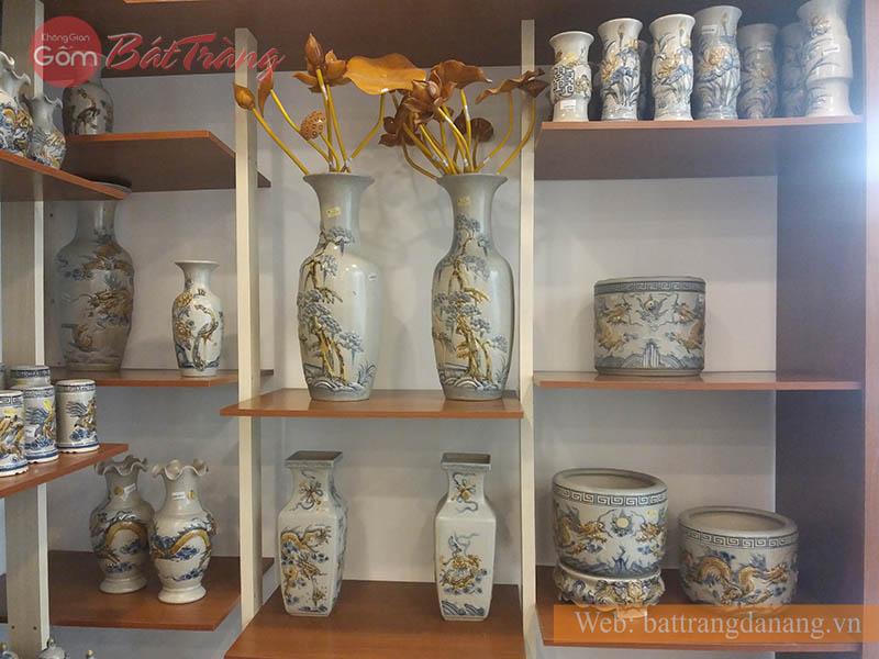 Lọ hoa đồ thờ cúng men rạn Bát Tràng