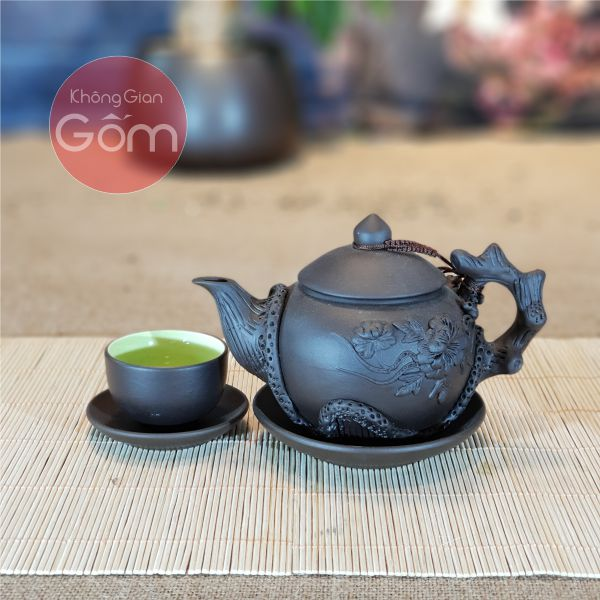 Bộ trà đắp tách lót