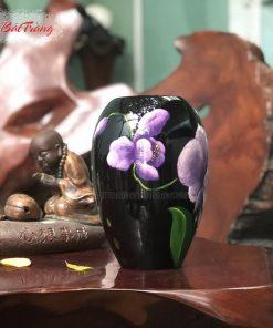 Vò xoài cắm hoa sứ vẽ tay 3D