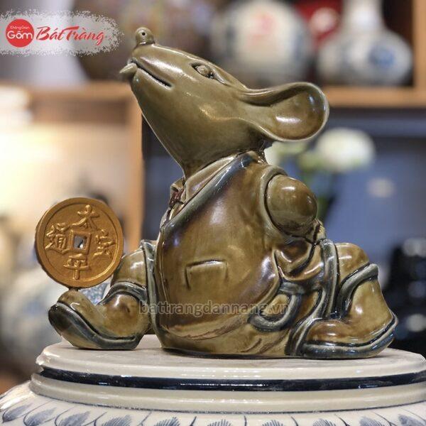 Tượng Chuột linh vật bằng sứ