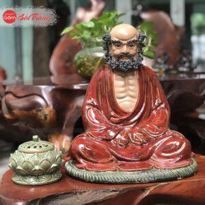 Tượng Đạt Ma ngồi sứ Bát Tràng
