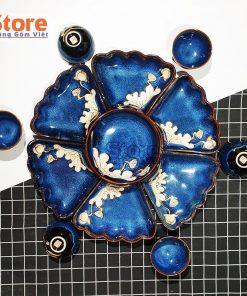 Set bát đĩa hoa mặt trời 13 món