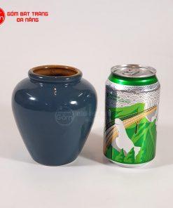 Lu uống bia sứ Bát Tràng 400ml